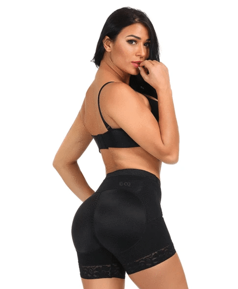 woman wearing a butt shaper in black